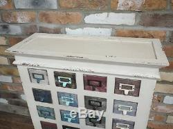 20 Coloured Drawers Cabinet Shabby Chic Wooden Storage Compartments Chest Unit