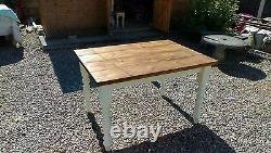 4ft handmade solid pine shabby chic table