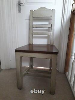 6 shabby Chic Kitchen/dining Chairs