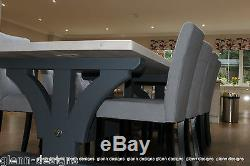 8,10,12 seater Large King-Post Dining Table, Tinted Paintwork
