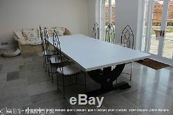 8,10,12 seater Large Shabby Country Painted Table, Queen Post End