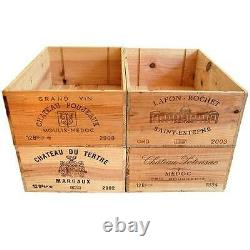 8 X 12 bottle size Wooden Wine Box Crate for Vintage Shabby Chic Home Storage