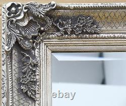 Abbey Vinatge Silver Large Shabby Chic Wall Leaner Mirror- 65 x 31 or 165x79cm