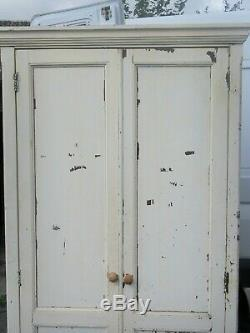 An old barn find shabby chic white painted tall kitchen cupboard pantry larder