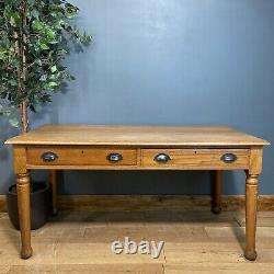 Antique Oak Table / Rustic Desk / Dining Table / Shabby Chic Kitchen Table