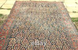 Antique Persian shabby chic hand knotted lambs wool 390 x 180 cm