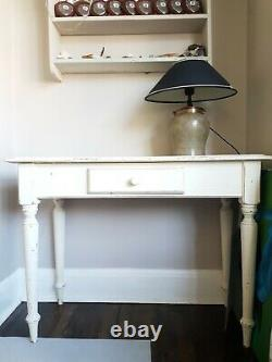Antique Wooden Cream Drawer Dressing Console Table 1 Drawer Shabby Chic