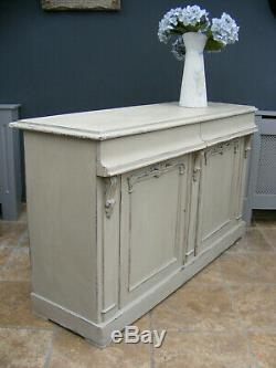 Antique shabby chic painted victorian mahogany and pine sideboard / cupboard