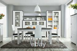 BN Extendable Kitchen Dining Table Scandinavian Shabby Chic White Wash Antwerpen