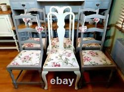 Beautiful Kitchen Dining Table and 6 Chairs Shabby Chic ASCP Grey 6 x 3ft
