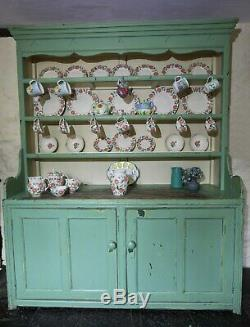 Beautiful Large Shabby Chic Kitchen Dresser pale green