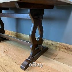 Beautiful Refectory Farmhouse Solid Oak Kitchen Rustic Table Shabby Chic Country