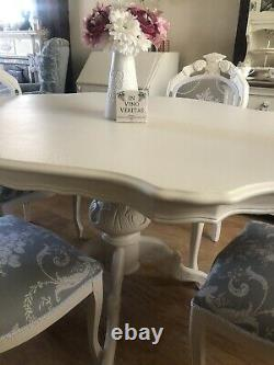 Beautiful Shabby Chic Dining Table And Chairs FREE DELIVERY Within 100miles