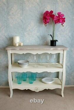 Casamoré Devon Shabby Chic French Style 2 Shelf Console Table Display Cabinet