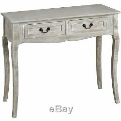 Charleston limed Console Table. Shabby Chic dressing table with 2 drawers