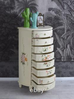 Chest of drawers country style roses drawers cabinet shabby chic furniture wood