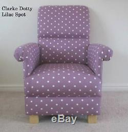 Clarke Nancy Chintz Floral Fabric Adult Chair Armchair Shabby Chic Flowers Pink