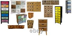 Coloured Wooden Storage Cabinets Drawers Trinket Wine Distressed Shabby Chic