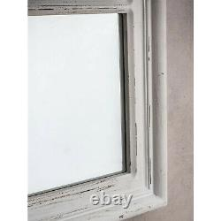Costner Large Antique White Shabby Chic Vintage Window Wall Mirror 130cm x 95cm
