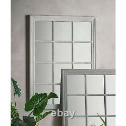 Costner Large Shabby Chic Antique White Vintage Window Wall Mirror 130cm x 95cm