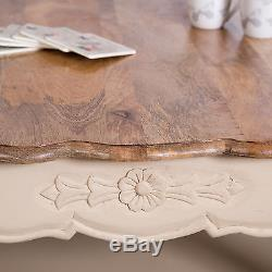 Cream Coffee Table Living Room Shabby Vintage Chic Ornate Furniture French Home