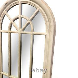 Curtis Large Shabby Chic Antique White Arched Wall Floor Window Mirror 178x61cm