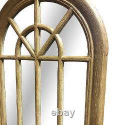 Curtis Large Shabby Chic Vintage Arched Long Wall Floor Window Mirror 178 x 61cm