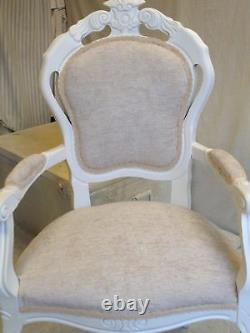 Custom Listing Antique Ivory Shabby Chic Italian table and 6 Chairs