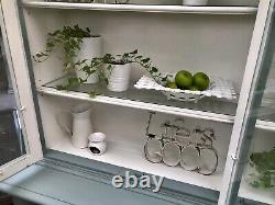 Dresser/Dispay Cabinet In Annie Sloan Duck Egg Painted Shabby Chic