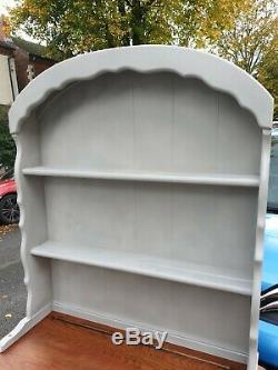 Ercol painted solid oak Shabby Chic vintage Welsh Dresser In Grey can deliver
