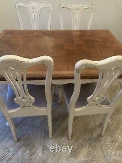 Extending Dining Table And 4 Chairs