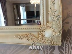 Extra Large Decorative Cream Shabby Chic Wall Mirror 46inch x 36inch Save ££'s
