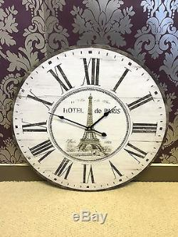 Extra Large French Chic Wall Clock 58cm Antique Vintage New Boxed Shabby Chic