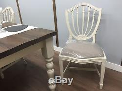 FARMHOUSE Table And Chairs Painted SHABBY CHIC Rustic Oak Pine VINTAGE NEW