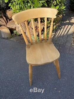 Farmhouse Kitchen Dining Table 4 Chairs 2 Carvers Traditional Rustic Shabby Chic