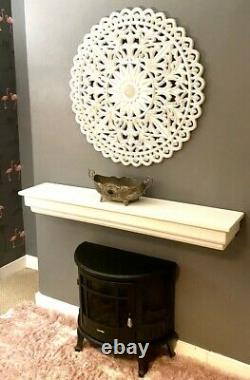 Floating Mantel fire surround Shabby Chic Shelves shelf victorian solid wood
