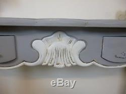 French Chateau Console Table In Mercury Grey