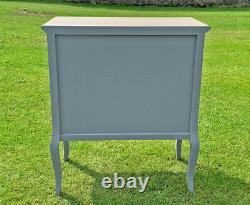 French Louis XV Shabby Chic Style Side Cabinet 3 Drawer (cy18816gyn)