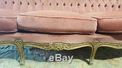 French Rococo Style 3 Seater Sofa Shabby Chic Louis Style Settee