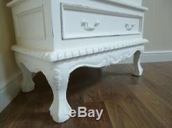 French Style Display Cabinet In White Shabby Chic One Door Display Cabinet