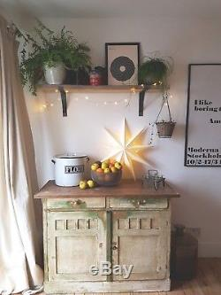 French Vintage Shabby Chic Distressed Kitchen Dresser/ Cupboard/ Sideboard