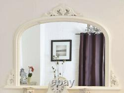 French White Arch Top Decorative Mirror Large 50x36 127cm x 91cm FREE P&P