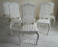 GREAT DEAL French Antique Shabby Chic Dining Table & Six Chairs