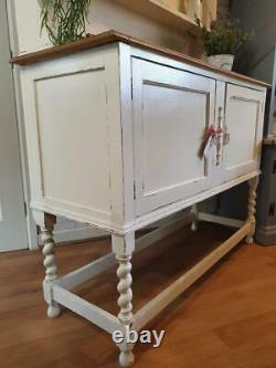 Gorgeous Antique Farmhouse Dresser Sideboard Cupboard Cabinet Shabby Chic Cream