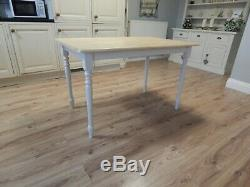 Gorgeous Vintage Beech Farmhouse Kitchen Dining Table & 4 Chairs, Shabby Chic