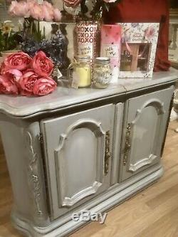 Grey Painted Sideboard Buffet Shabby Chic