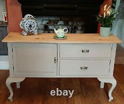 Hand Painted, Shabby Chic, Farmhouse Style Sideboard, Cabinet, Cupboard