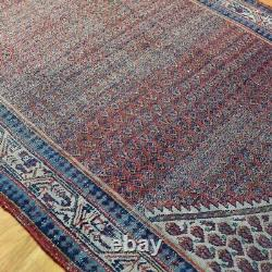Hand knotted Traditional Mir Vintage Shabby Chic Distressed Rug Wool 200 x 128cm
