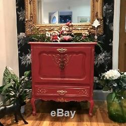 Hand painted French Oak Shabby Chic Hallway Drinks Cabinet Annie Sloan Sideboard