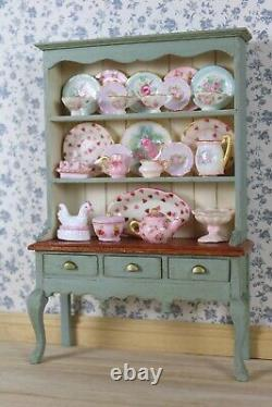 Handpainted Dolls House dresser, shabby chic vintage inspired. 1/12th scale
